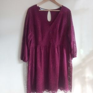 Maurices purple lace mini dress